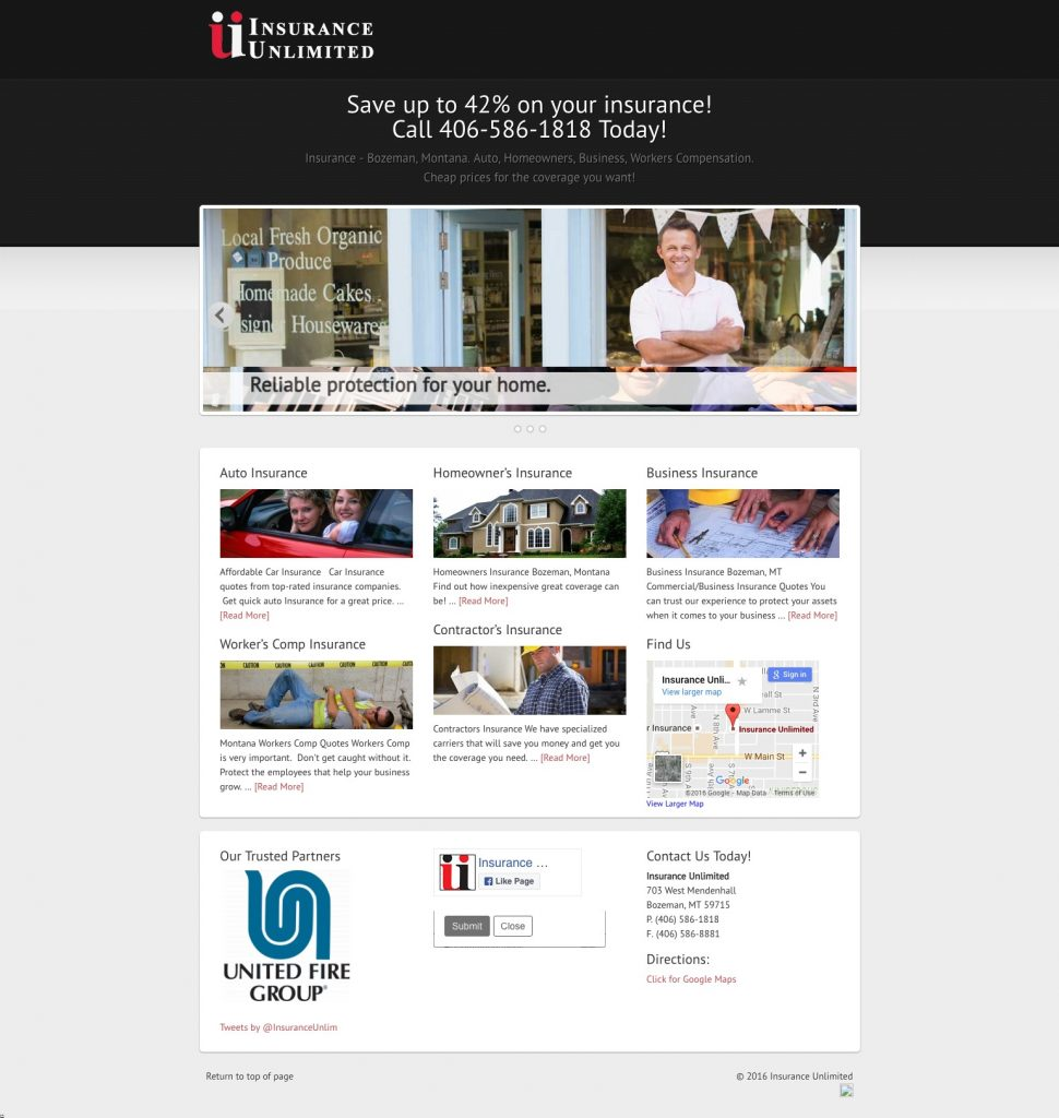insurance agency web design