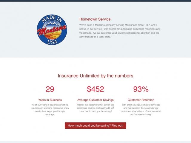 insurance web design